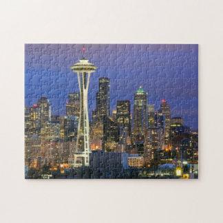 Seattle vista del parque de Kerry en la reina Anne Puzzle