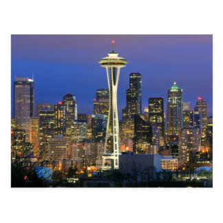 Seattle vista del parque de Kerry en la reina Anne Tarjetas Postales