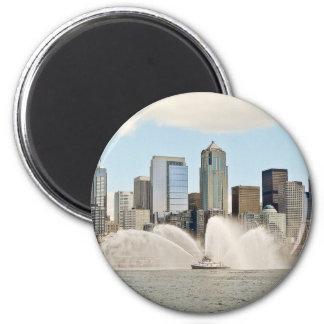 Seattle, WA 2 Inch Round Magnet
