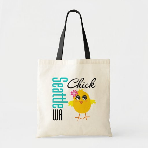 Seattle WA Chick Budget Tote Bag