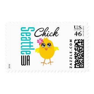 Seattle WA Chick Stamp