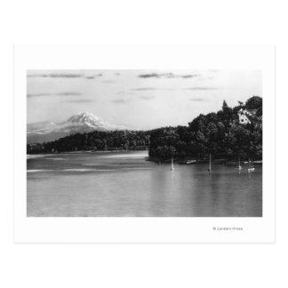 Seattle, WA Lake Washington View and Rainier Postcard