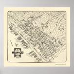 Seattle, WA Panoramic Map - 1903 Poster