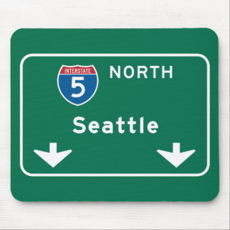 Seattle, WA Road Sign Mouse Pad