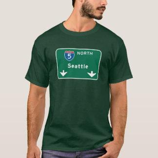 Seattle, WA Road Sign T-Shirt