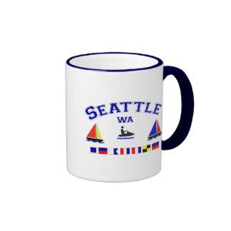 Seattle WA Signal Flags Coffee Mugs