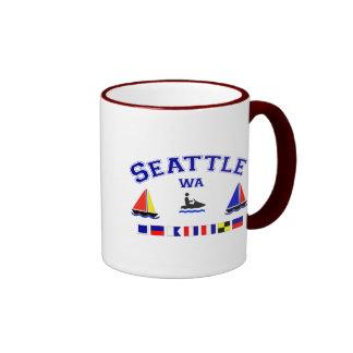 Seattle WA Signal Flags Mug