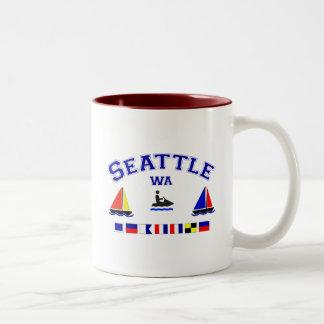 Seattle WA Signal Flags Mugs
