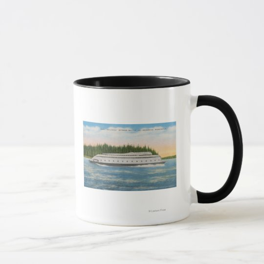Seattle, WA - View of Kalakala Ferry on Puget Mug