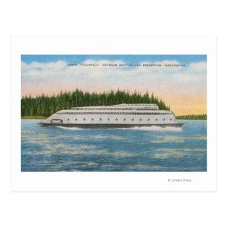 Seattle, WA - View of Kalakala Ferry on Puget Postcard