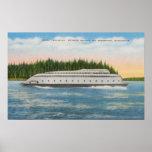 Seattle, WA - View of Kalakala Ferry on Puget Posters