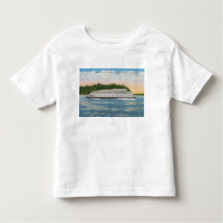 Seattle, WA - View of Kalakala Ferry on Puget Toddler T-shirt