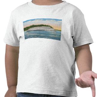 Seattle, WA - vista del transbordador de Kalakala Camisetas