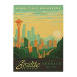 Seattle, WA Wood Wall Art
