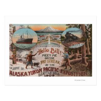 Seattle, WAAD para la expo de Alaska el Yukón el Tarjetas Postales