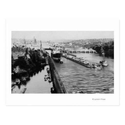 Seattle, WABallard Locks Ship Canal Photograph Postcard