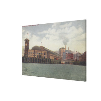 Seattle, WAColeman Dock on Seattle Waterfront Gallery Wrapped Canvas