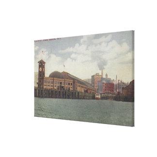 Seattle, WAColeman Dock on Seattle Waterfront Canvas Print