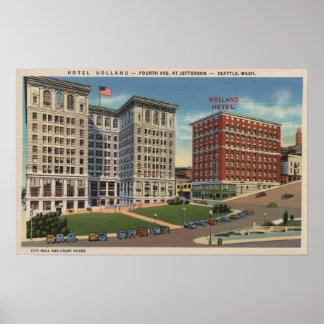 Seattle, WAHotel Holland & Municipal Bldgs Print