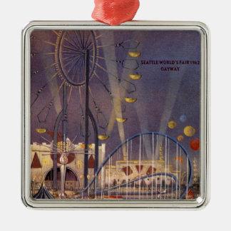 Seattle, Washington1962 World's Fair Poster Metal Ornament
