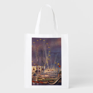 Seattle, Washington1962 World's Fair Poster Reusable Grocery Bag