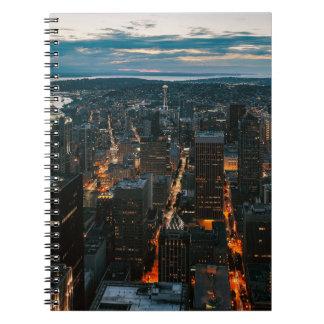 Seattle Washington Aerial View Notebook