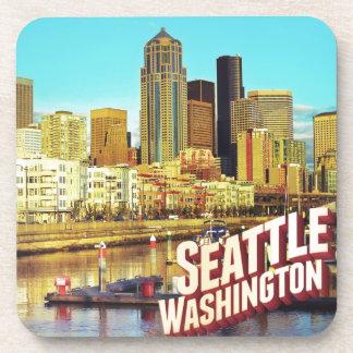 Seattle Washington Beverage Coaster