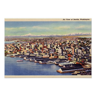 Seattle Washington Birdseye 1940 Posters