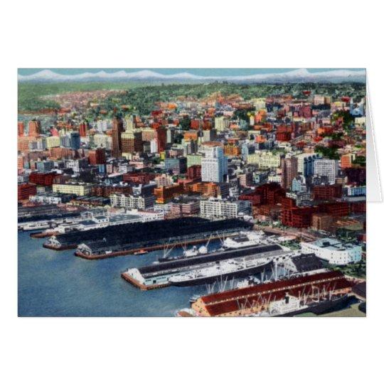 Seattle Washington Birdseye View Card