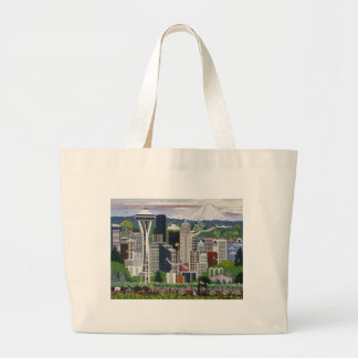 Seattle Washington Bolsa Tela Grande