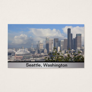 City of seattle business cards templates zazzle seattle washington business card colourmoves
