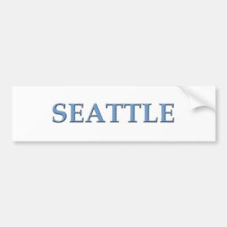 Seattle Washington Pegatina De Parachoque