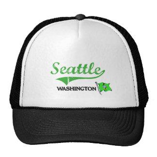 Seattle Washington City Classic Trucker Hats