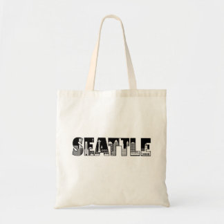 Seattle Washington City Skyline Silhouette Bag