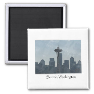 Seattle Washington Downtown Gifts Souvenir 2 Inch Square Magnet