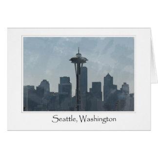 Seattle Washington Downtown Gifts Souvenir Greeting Card