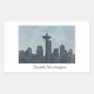 Seattle Washington Downtown Gifts Souvenir Rectangular Sticker