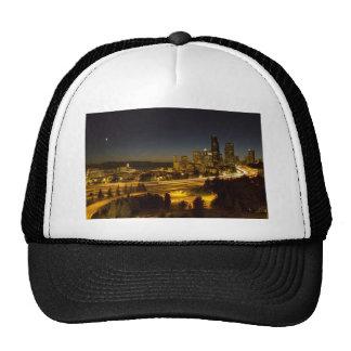 Seattle Washington Downtown Skyline at Sunset Hat
