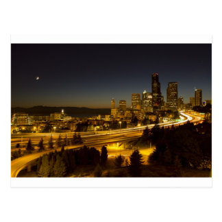Seattle Washington Downtown Skyline at Sunset Post Card