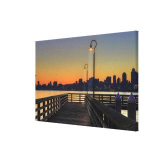 Seattle Washington Downtown Skyline Gallery Wrap Canvas