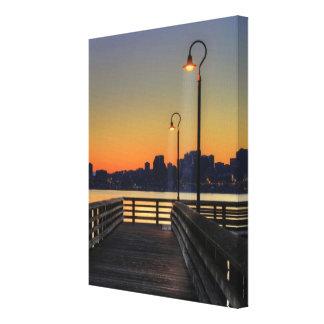 Seattle Washington Downtown Skyline Canvas Print