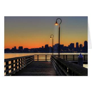 Seattle Washington Downtown Skyline Greeting Cards