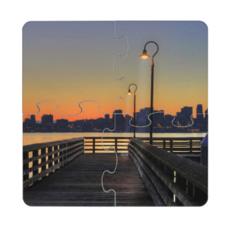 Seattle Washington Downtown Skyline Puzzle Coaster