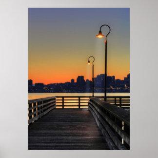 Seattle Washington Downtown Skyline Poster