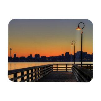 Seattle Washington Downtown Skyline Rectangular Photo Magnet