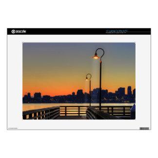 "Seattle Washington Downtown Skyline 15"" Laptop Skin"