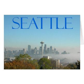 Seattle Washington Downtown Skyline View Cards