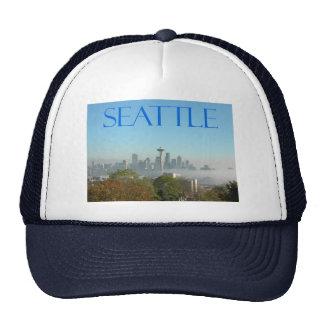 Seattle, Washington Downtown Skyline View Hats