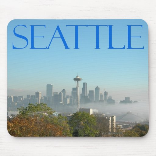 Seattle, Washington Downtown Skyline View Mouse Pad
