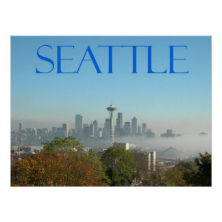 Seattle, Washington Downtown Skyline View Print